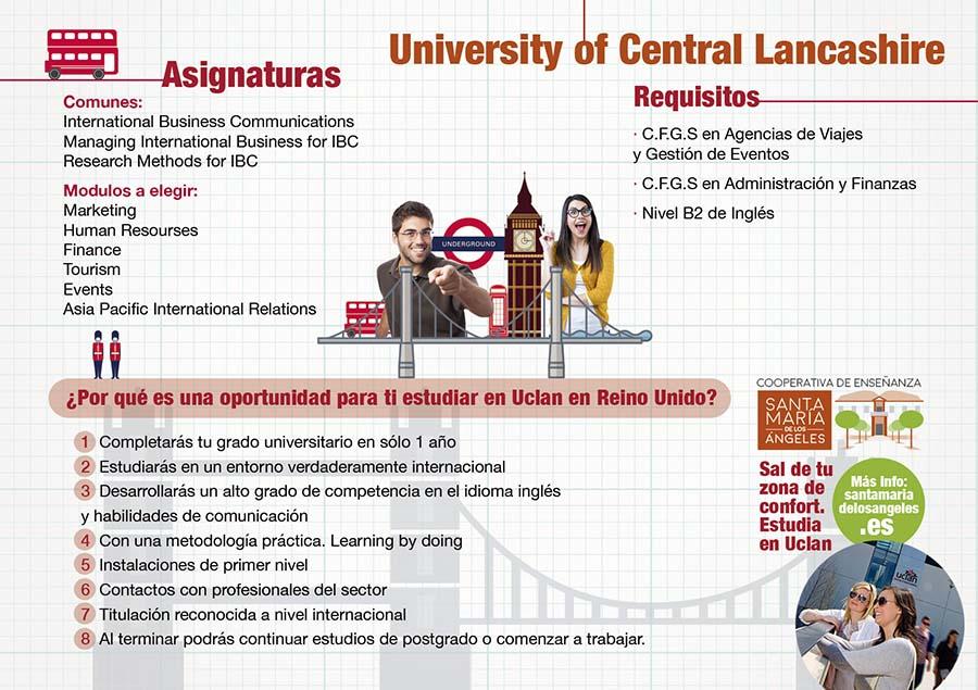 ¿Quieres añadir a tu ciclo de FP un grado universitario en el Reino Unido? University of Central Lancashire