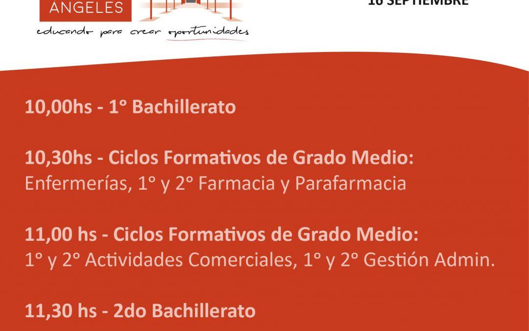 Comienzo curso 2019-20